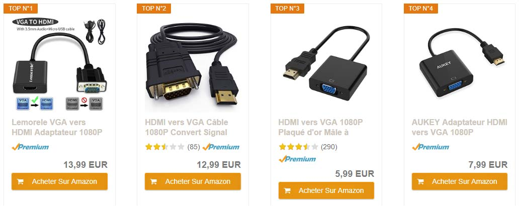 Adaptateur VGA HDMI